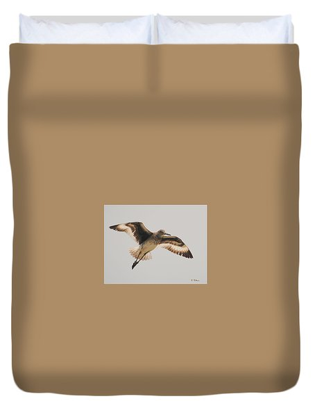 Wings Of A Willett  Duvet Cover