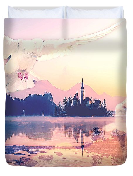 Wings Of Grace Duvet Cover
