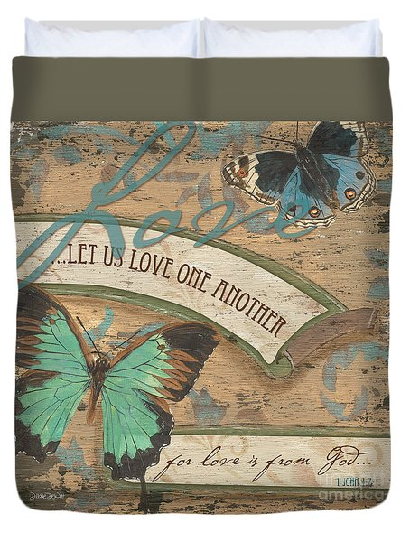 Wings Of Love Duvet Cover by Debbie DeWitt