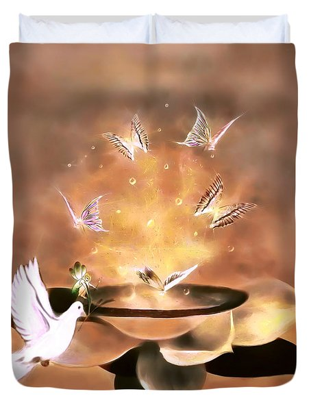 Wings Of Magic Duvet Cover