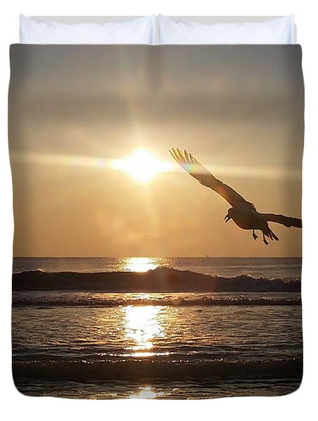 Wings Of Sunrise Duvet Cover