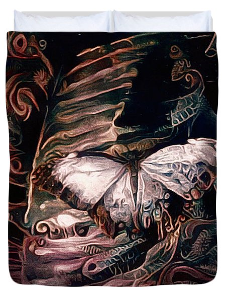 Wings Of The Night Duvet Cover by Susan Maxwell Schmidt