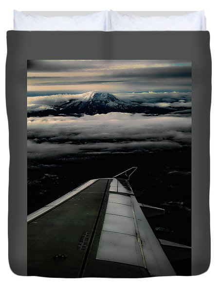 Wings Over Rainier Duvet Cover