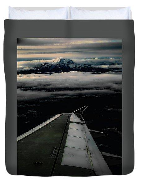 Wings Over Rainier Duvet Cover by Jeffrey Jensen