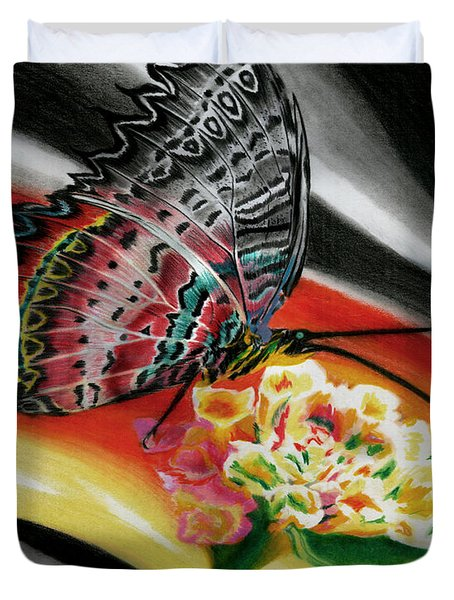 Duvet Cover featuring the painting Transforming Winds     by Peter Piatt