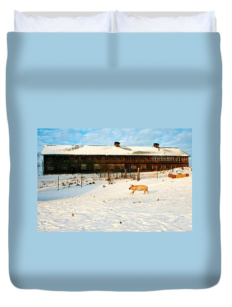 Winnie At Heartland Farm Sanctuary Duvet Cover