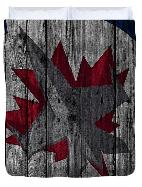 Winnipeg Jets Wood Fence Duvet Cover