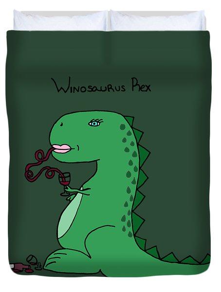Winosaurus Rex Duvet Cover