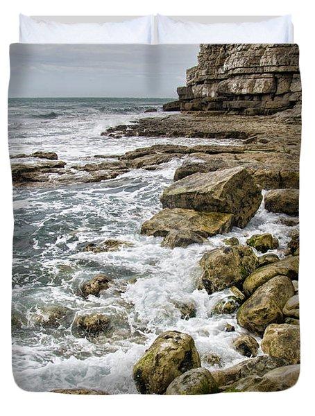 Winspit Cove In Dorset Duvet Cover