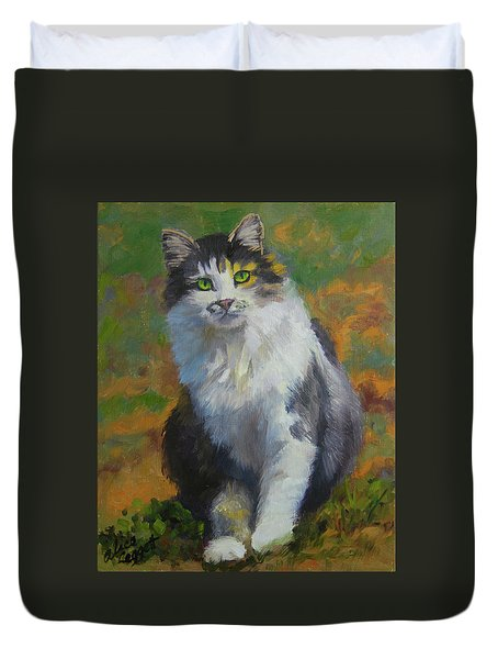 Winston Cat Portrait Duvet Cover