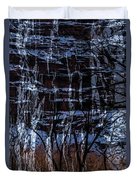 Winter Abstract Duvet Cover