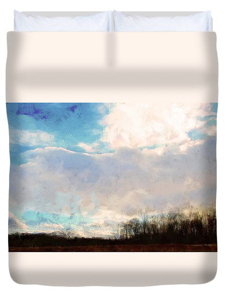 Winter Afternoon Sky Duvet Cover