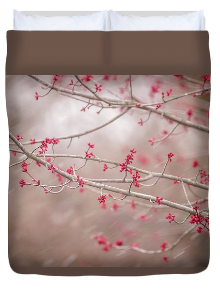 Duvet Cover featuring the photograph Winter And Spring by Terry DeLuco