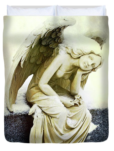 Winter Angel Duvet Cover