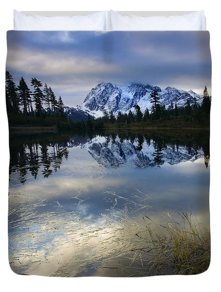 Winter Approaches Duvet Cover by Mike  Dawson