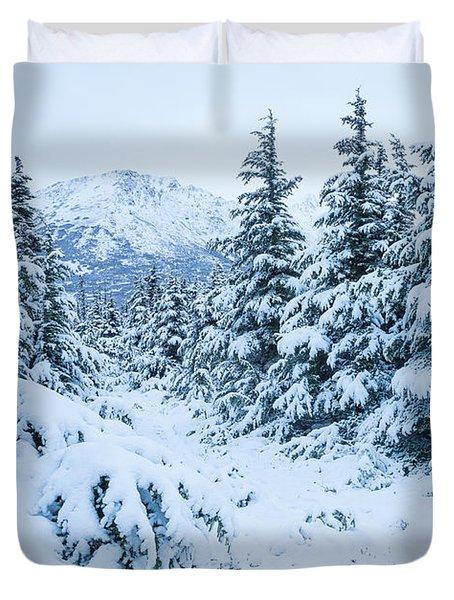 Winter Arrives Duvet Cover