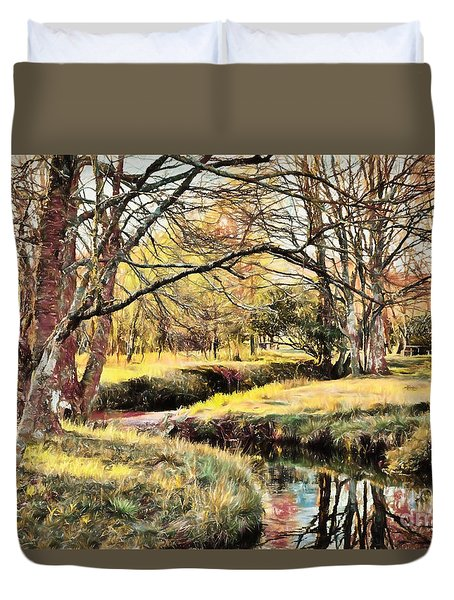 Winter Artistry Ap Duvet Cover by Dan Carmichael