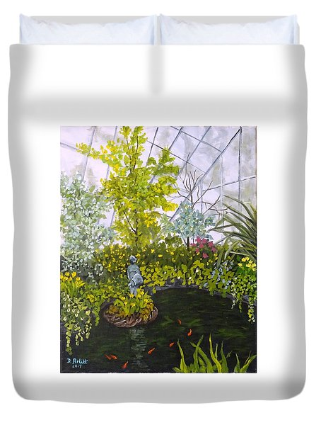 Winter At Allan Gardens Duvet Cover by Diane Arlitt