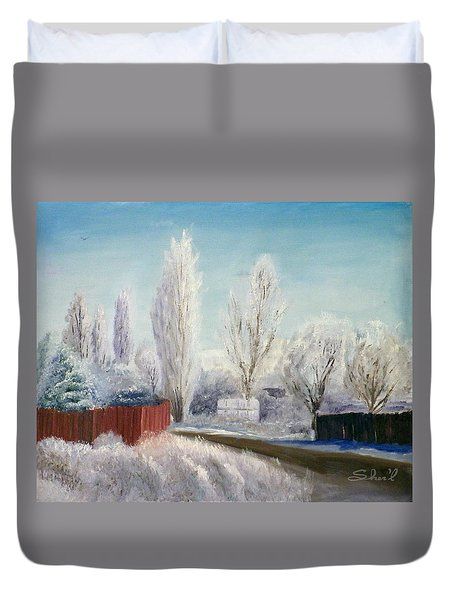 Winter At Bonanza Duvet Cover