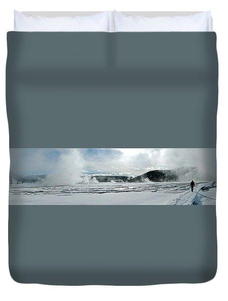 Winter At Grand Prismatic Duvet Cover