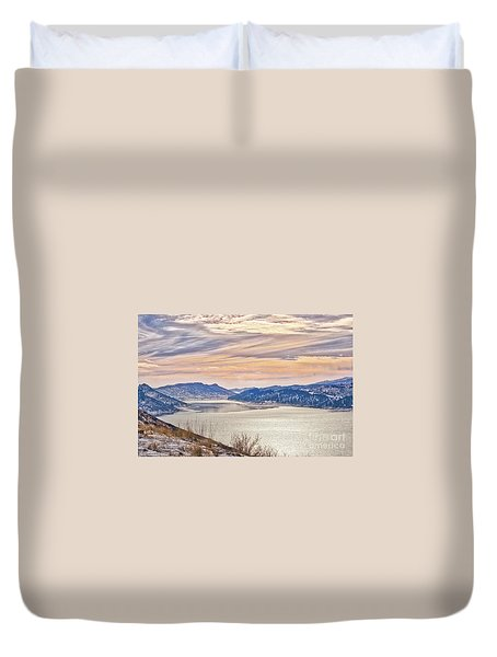 Winter At Horsetooth Reservior Duvet Cover