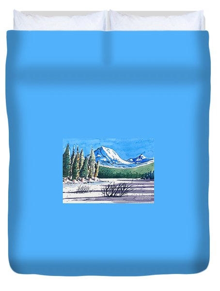 Winter At Mt. Lassen Duvet Cover by Terry Banderas