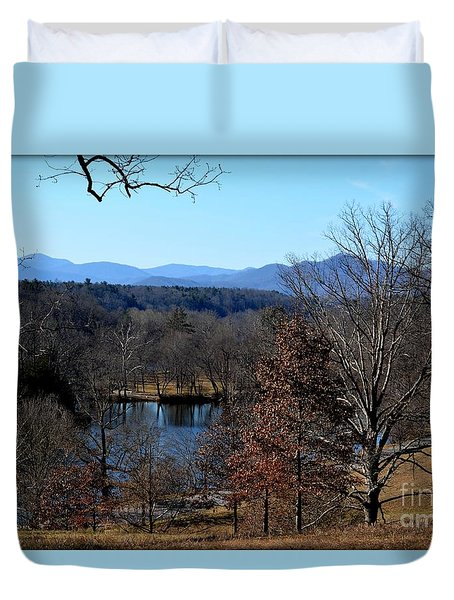 Duvet Cover featuring the photograph Winter At The Biltmore by Janice Spivey