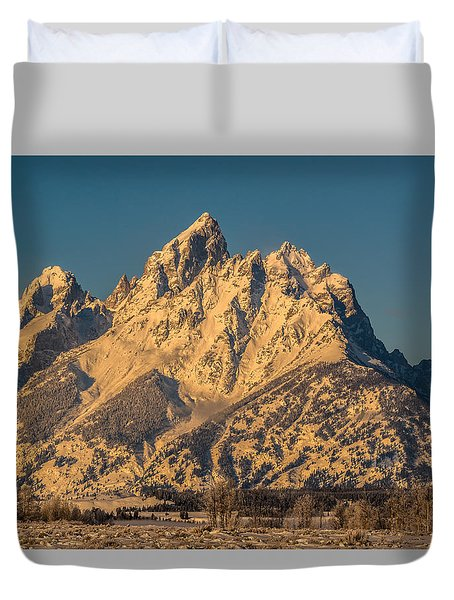 Winter At The Grand Duvet Cover