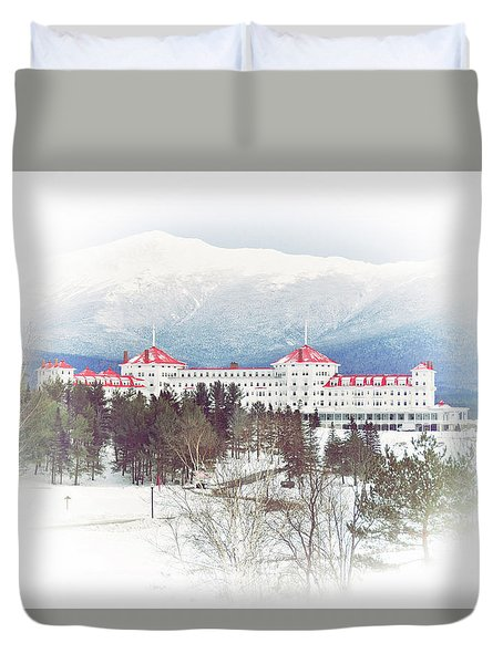 Winter At The Mt Washington Hotel 2 Duvet Cover