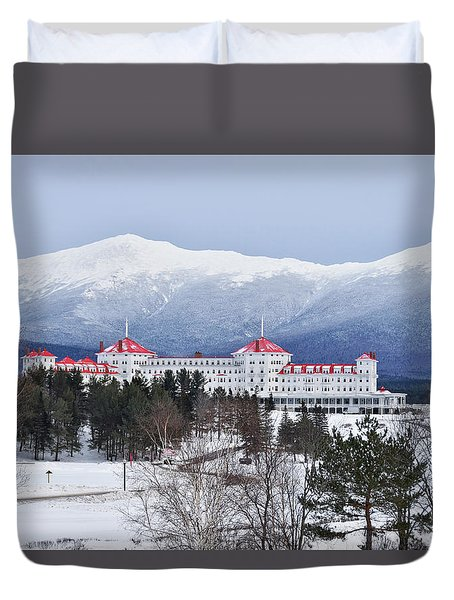 Winter At The Mt Washington Hotel Duvet Cover by Tricia Marchlik