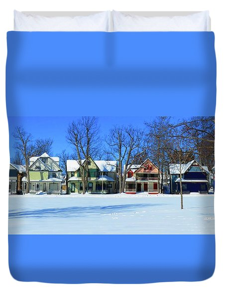 Winter At Ti Park Duvet Cover
