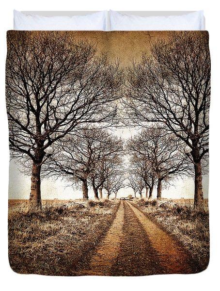 Winter Avenue Duvet Cover by Meirion Matthias
