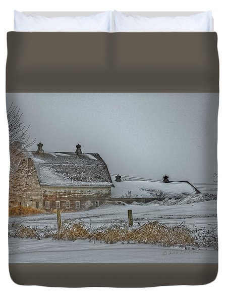 Winter Barn Duvet Cover by Edward Peterson