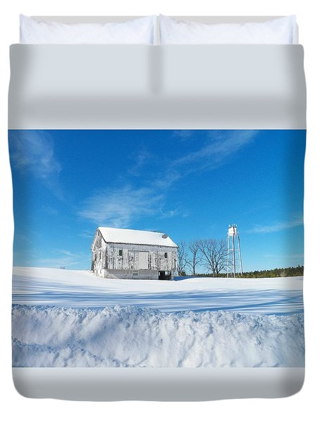 Winter Barn Duvet Cover by Joyce Kimble Smith
