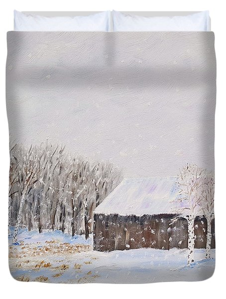 Winter Barn Duvet Cover