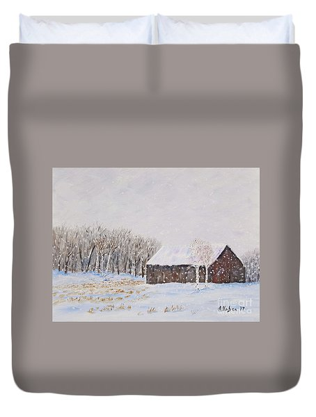 Winter Barn Duvet Cover
