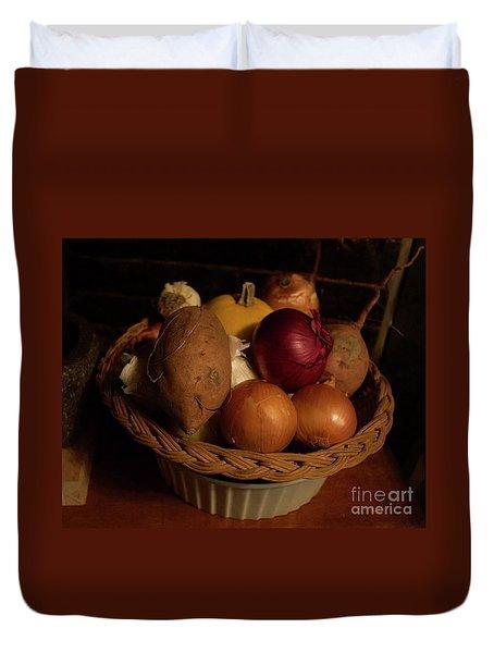 Winter Basket Duvet Cover