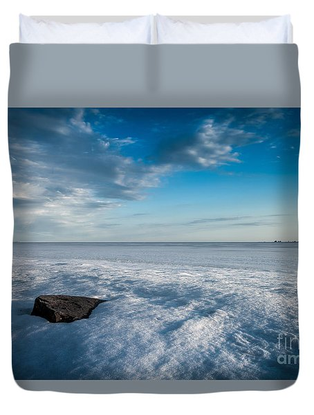 Winter Beach Duvet Cover