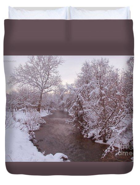 Duvet Cover featuring the photograph Winter Beauty by Rima Biswas