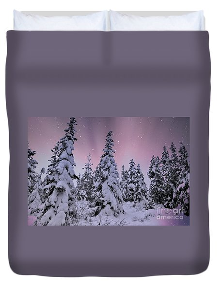 Winter Beauty Duvet Cover by Sheila Ping