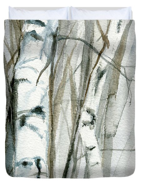 Winter Birch Duvet Cover