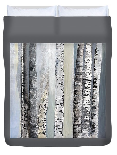 Winter Birches Duvet Cover