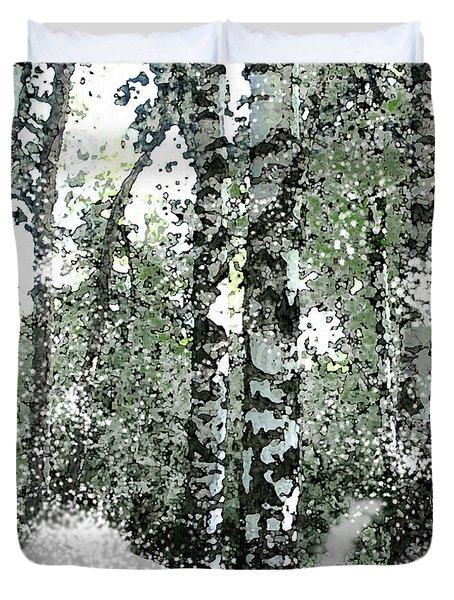 Winter Birches Duvet Cover