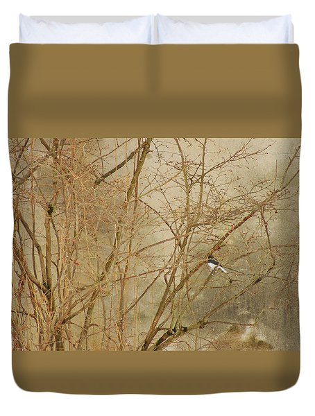 Winter Bird At The Audubon Duvet Cover
