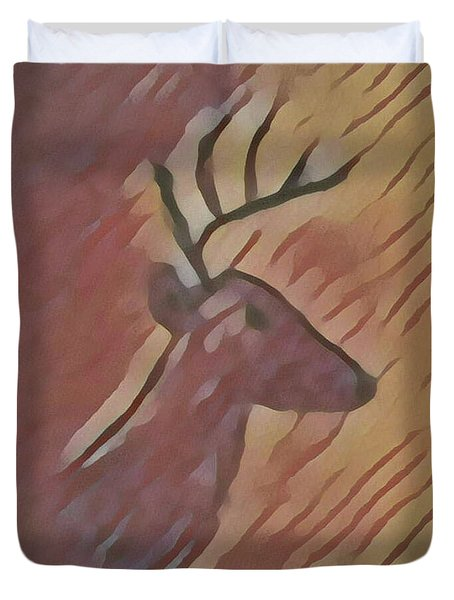 Duvet Cover featuring the painting Winter Blessings by Margaret Welsh Willowsilk