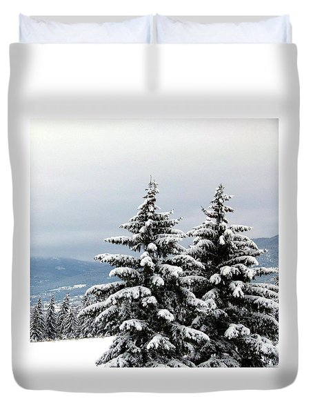 Duvet Cover featuring the photograph Winter Bliss by Will Borden