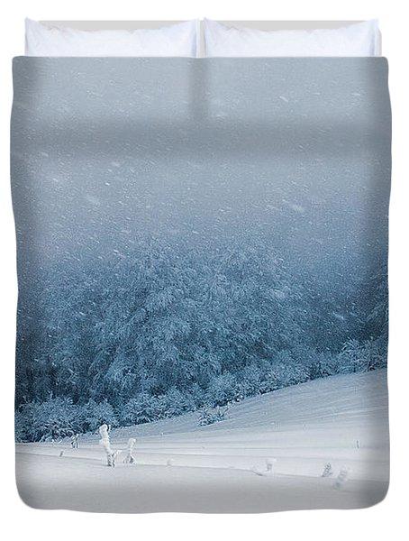 Winter Blizzard Duvet Cover by Evgeni Dinev