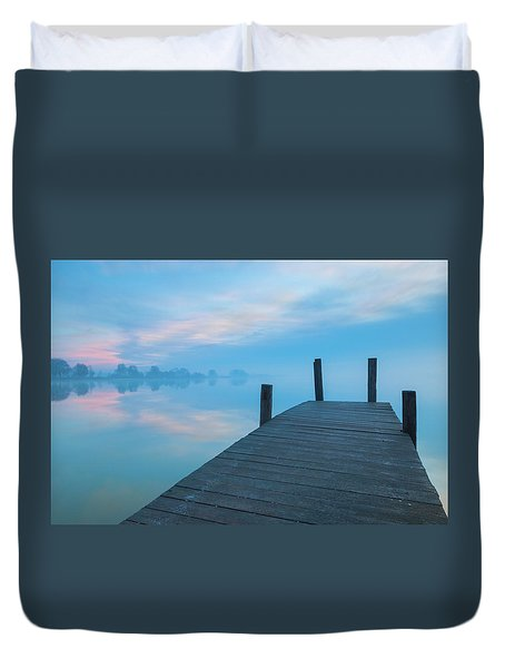 Duvet Cover featuring the photograph Winter Blues by Davor Zerjav