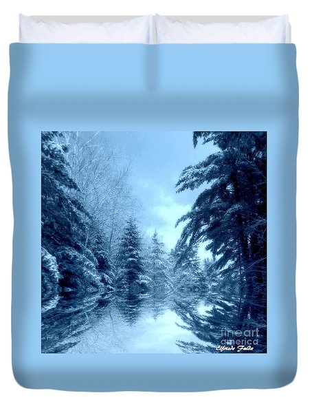 Winter Blues Duvet Cover