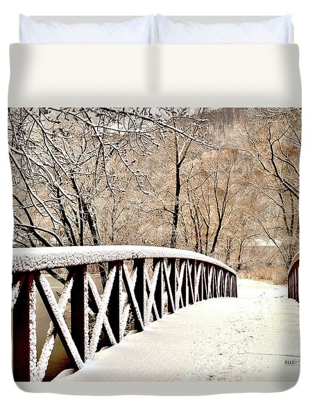 Winter Bridge 2 Duvet Cover